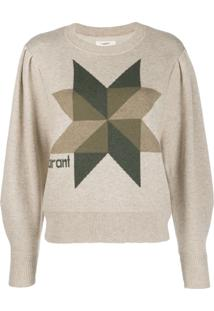 Isabel Marant Étoile Cropped Logo Knit Sweater - Neutro