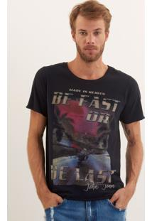 Camiseta John John Rx Be Fast Malha Azul Marinho Masculina Tshirt Rx Be Fast-Azul Marinho-P