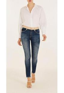 Calça Iódice Skinny Cós Intermediário Composê Tecido Jeans Feminina - Feminino
