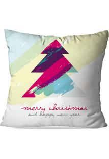 Capa De Almofada Love Decor Avulsa Decorativa Abstract Merry Christmas - Off-White - Dafiti