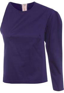 Blusa Feminina Assimétrica - Azul