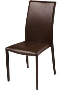 Cadeira Filipinas Revestida Em Pu Cor Cafe - 27153 - Sun House