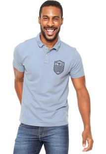 Camisa Polo Osklen Slim Azul