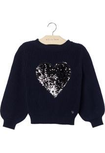 Blusa Shine Heart (Dark Blue, 10)