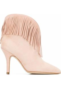 Paris Texas Ankle Boot Com Franjas - Rosa