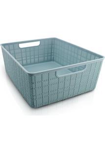 Cesto Organizador Com Alça G Jacki Design Cozy Azul
