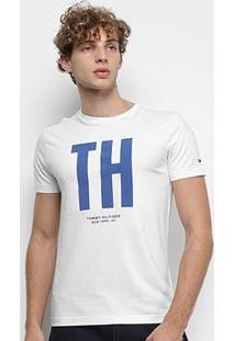Camiseta Tommy Hilfiger Big Th Masculina - Masculino-Branco