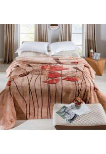 Cobertor Raschel Estampado 2.20 X 2.40M Graciosas Jolitex