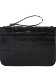 Clutch Bright Croco Black | Schutz