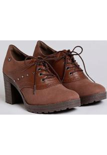 Sapato Oxford Feminino Marrom
