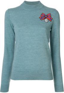 Markus Lupfer Suéter Com Paetês - Azul