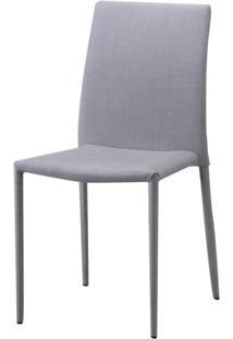 Cadeira Indonesia Estofada Tecido Sintetico Bege - 30745 - Sun House