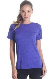 Camiseta Líquido Basic Energy Feminina - Feminino-Roxo