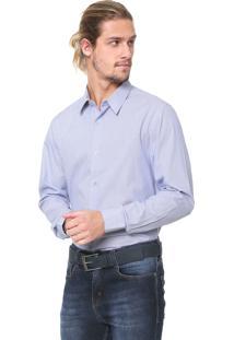 Camisa Calvin Klein Reta Listrada Azul/Branca