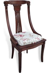 Cadeira Milão Em Madeira Maciça Com Pinturas E Tecidos Personalizáveis