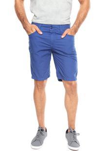 Bermuda Sarja Coca-Cola Jeans Fit Azul