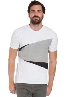 Camiseta Geométrica Em Malha Branco Hangar 33