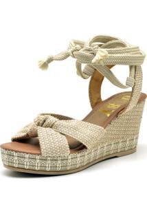 Sandália Anabela Ousy Shoes Corda Confort Feminina Juta - Tricae