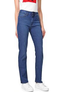 Calça Jeans Calvin Klein Jeans Reta Estonada Azul
