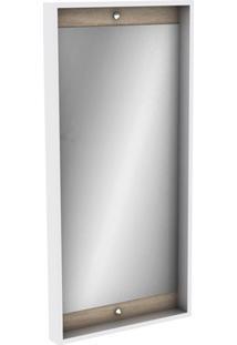 Espelheira Em Mdf Módena 99,5X48Cm Mezzo Blanco