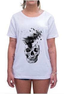 Camiseta Estampada Impermanence Caveira Branca