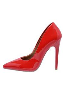 Scarpin Factor Fashion Salto Alto - Ferrari