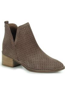 Ankle Boots Feminina Desmond - Taupe