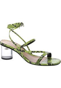 Sandália Texturizada - Verde & Pretaschutz