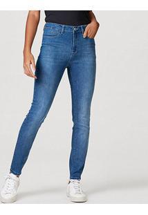 Calça Jeans Skinny Hering Feminina - Feminino-Azul Claro