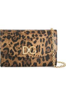 Dolce & Gabbana Carteira 'Leopard' De Couro - Estampado