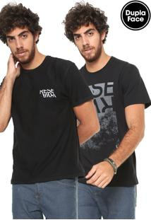 Camiseta Reserva Dupla Face Cha Preta