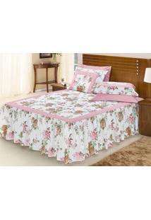 81061efff2 ... Colcha ( Travesseiro) Casal Rosê Belize 5 Peças Algodão E Poliéster -  Ione Enxovais