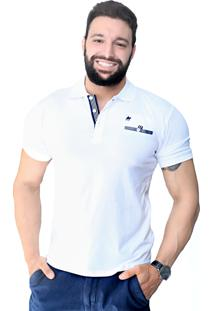 Camisa Polo St Hommes Clássica Com Bolso Branca