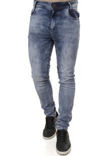 Calça Jeans Suez Marmorizada Azul