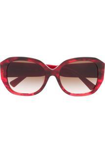Valentino Eyewear Óculos De Sol Quadrado Vlogo - Vermelho
