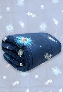 Edredom Solteiro Kacyumara Vida Bela Astronauta Azul