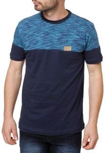 Camiseta Manga Curta Masculina Occy Preto/Azul