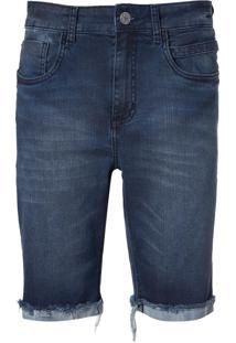 Bermuda John John Clássica Kempe Jeans Azul Masculina (Jeans Medio, 42)