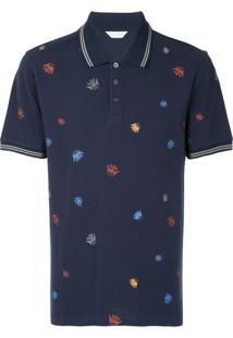 Gieves & Hawkes Camisa Polo Com Estampa - Azul