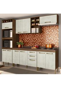 Cozinha Compacta Viena 11 Pt 2 Gv Marrom E Gelo