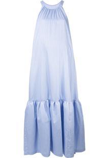 3.1 Phillip Lim Vestido Longo Listrado - Azul