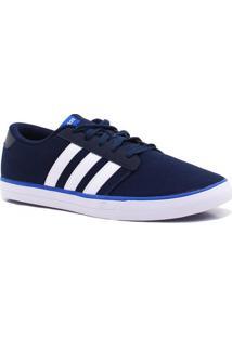 Tênis Adidas Vs Skate Listrado Azul