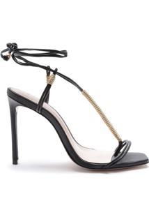 Sandália Strings Lace-Up Black | Schutz