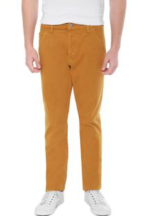 Calça Sarja Calvin Klein Jeans Reta Color Amarela