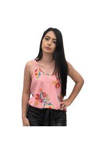 Blusa Hdy Estampada De Alcinha Rosa