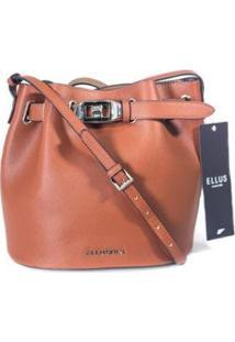Bolsa Bucket Bag Ellus Feminina - Feminino-Marrom