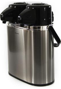 Garrafa Térmica Dupla Leite Café Tererê Água 1,6L Aço Inox Triplo Conserva Quente Frio 24Hr Termopro