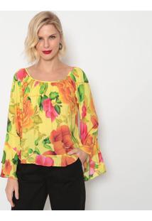 Blusa Floral- Amarela & Verde- Morena Rosamorena Rosa