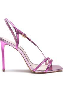 Sandália New Line Metallic Purple   Schutz