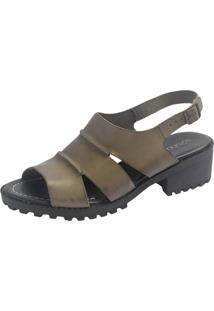 Sandália S2 Shoes Vitória Couro Verde Folha
